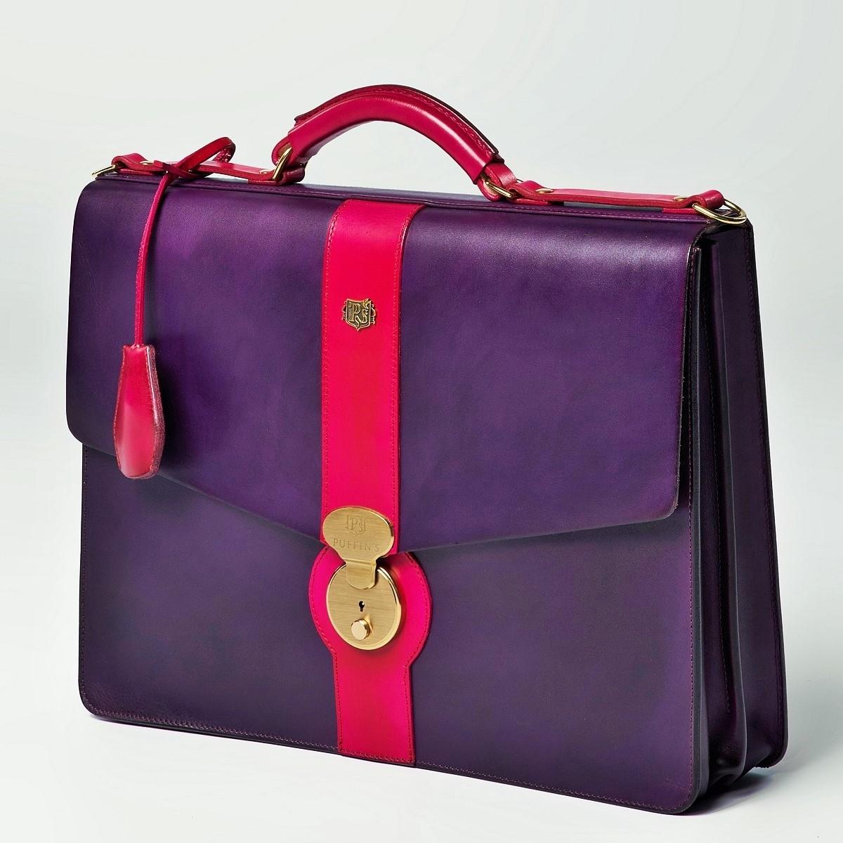 Портфель CLASSIC NUMBER ONE пурпурный & чернильный