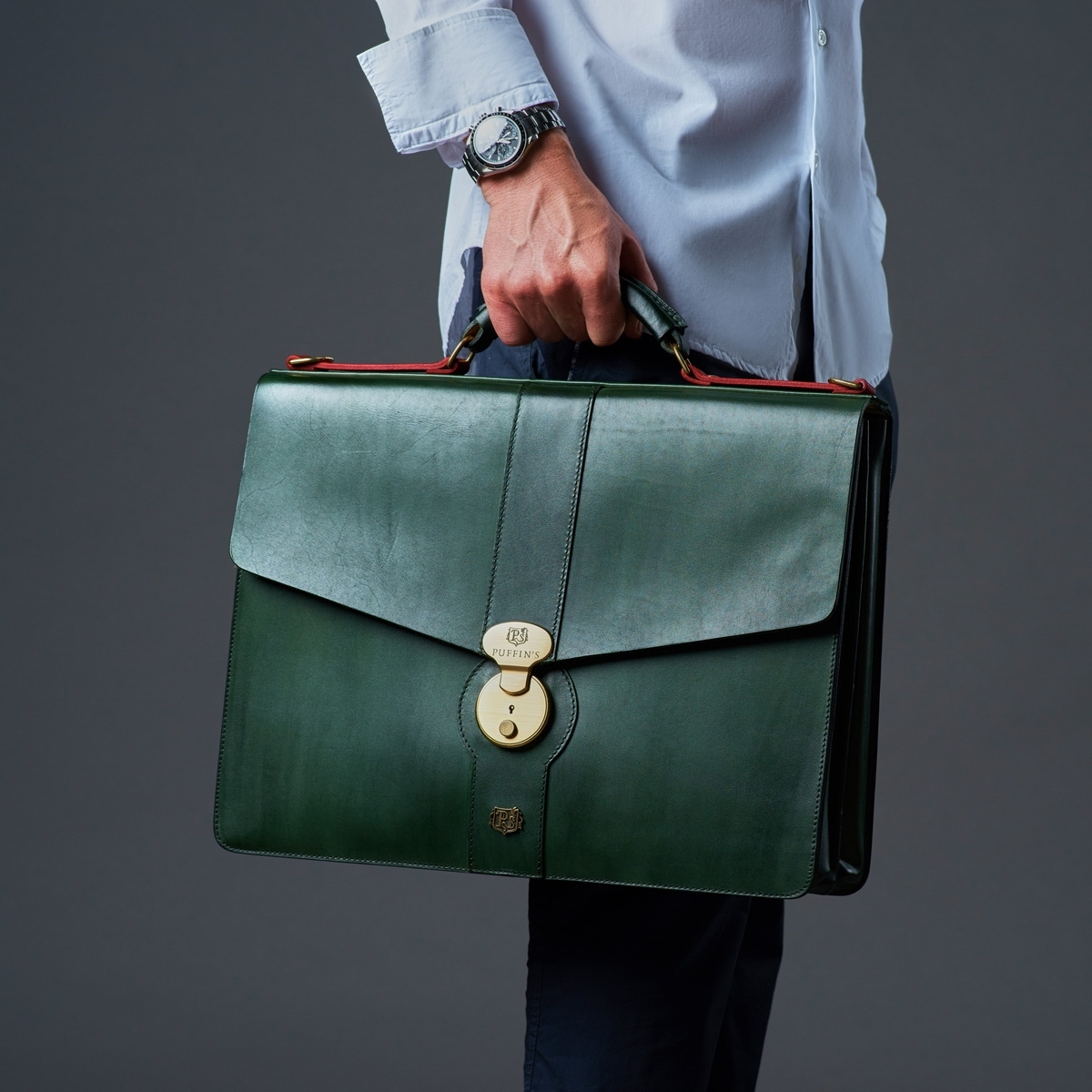 Briefcase CLASSIC NUMBER ONE red currant & grassy green