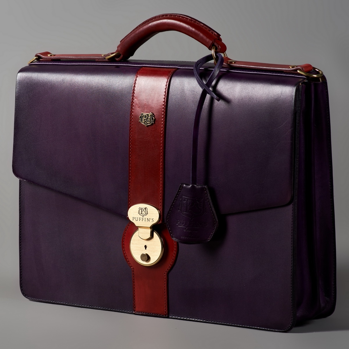 Briefcase CLASSIC NUMBER ONE red currant & violet ink