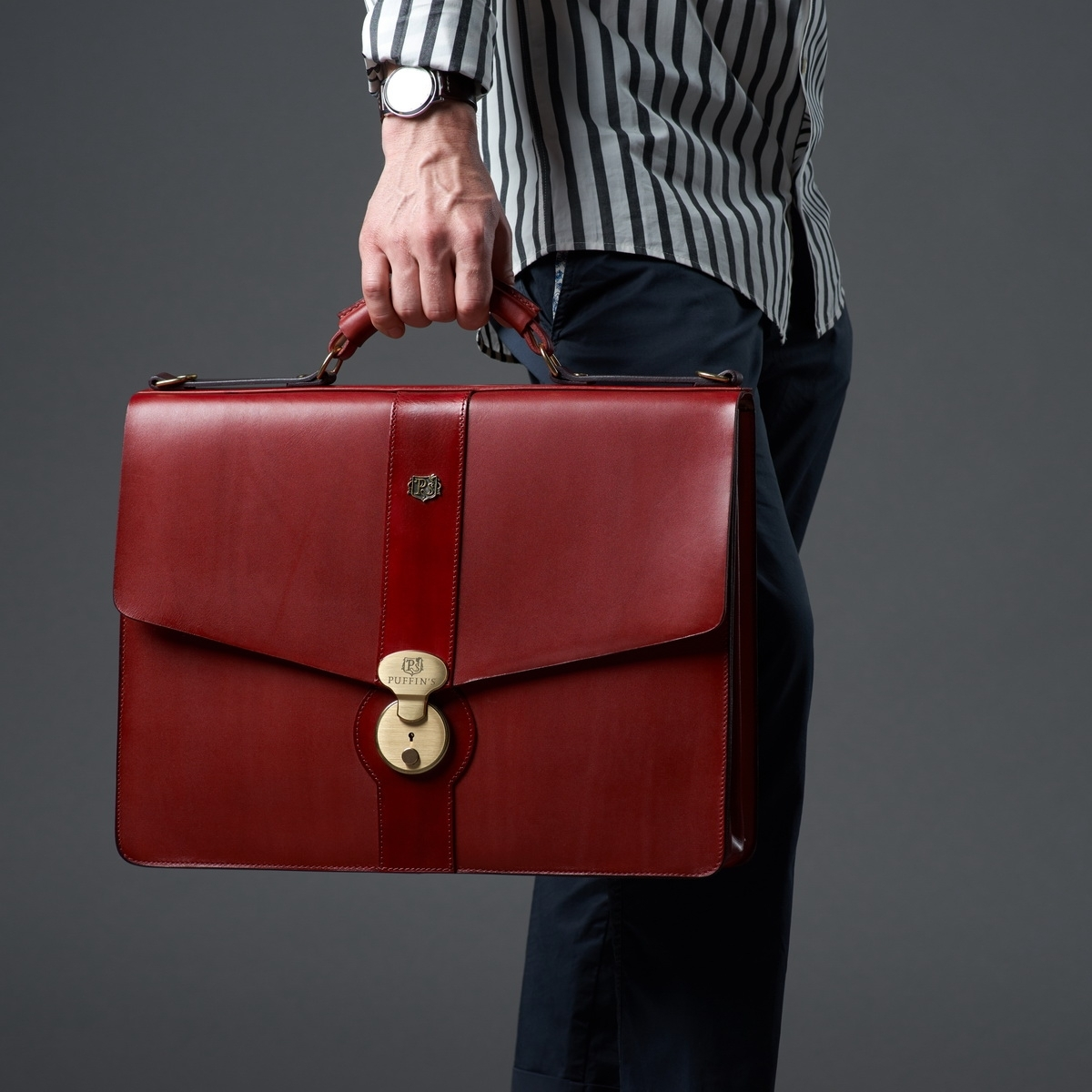 Briefcase CLASSIC NUMBER ONE bordeaux & red currant