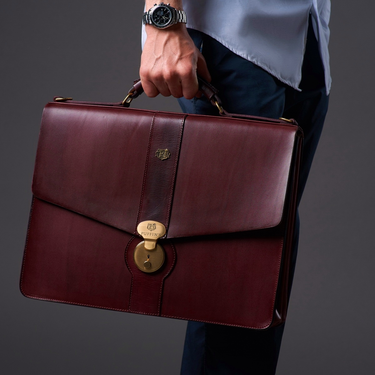 Briefcase CLASSIC NUMBER ONE bordeaux