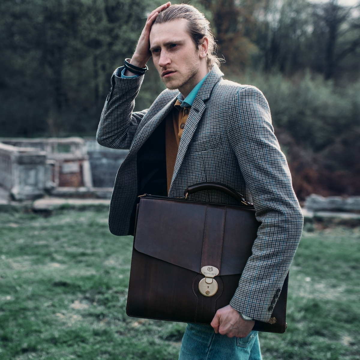 Briefcase CLASSIC NUMBER ONE chestnut