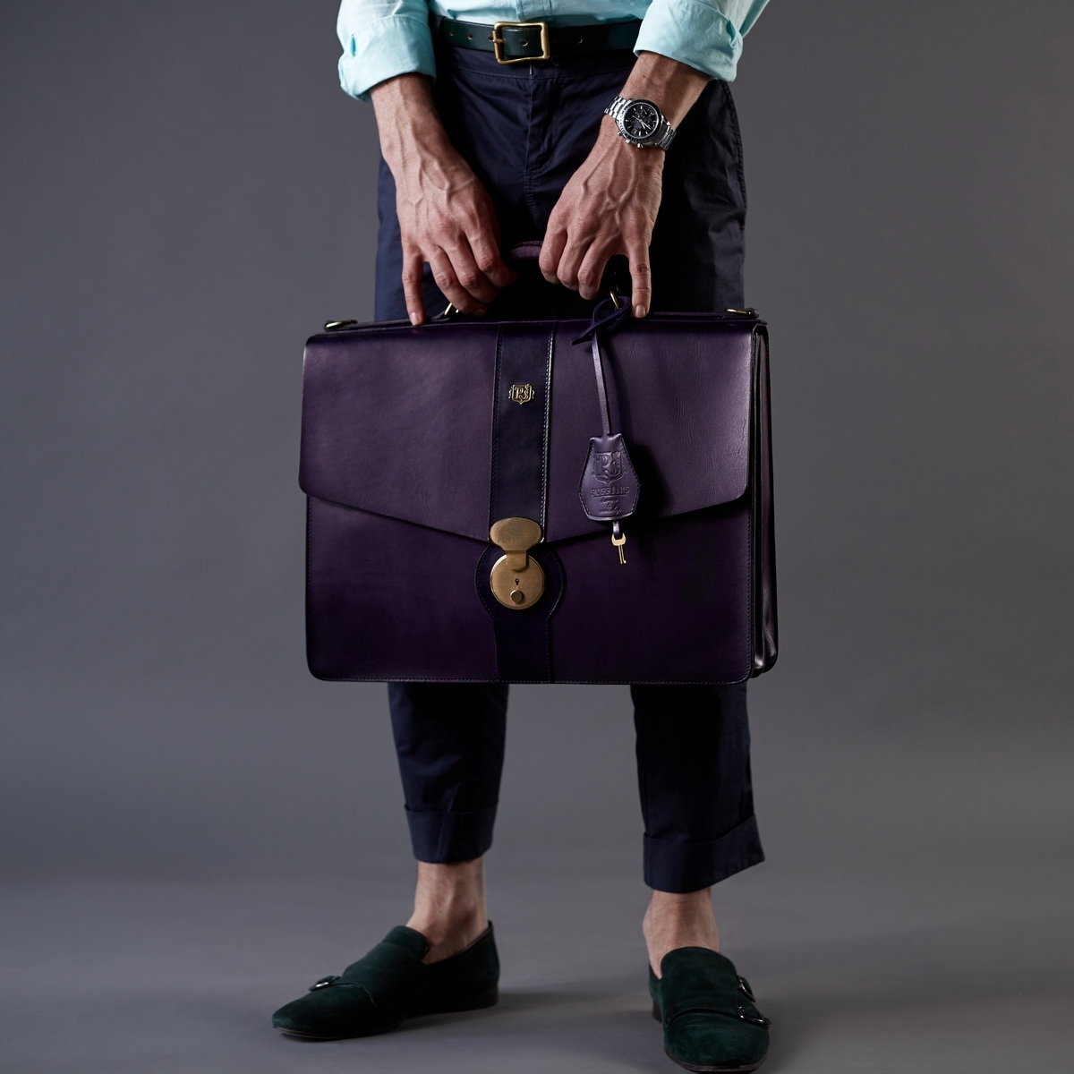 Briefcase CLASSIC NUMBER ONE violet ink