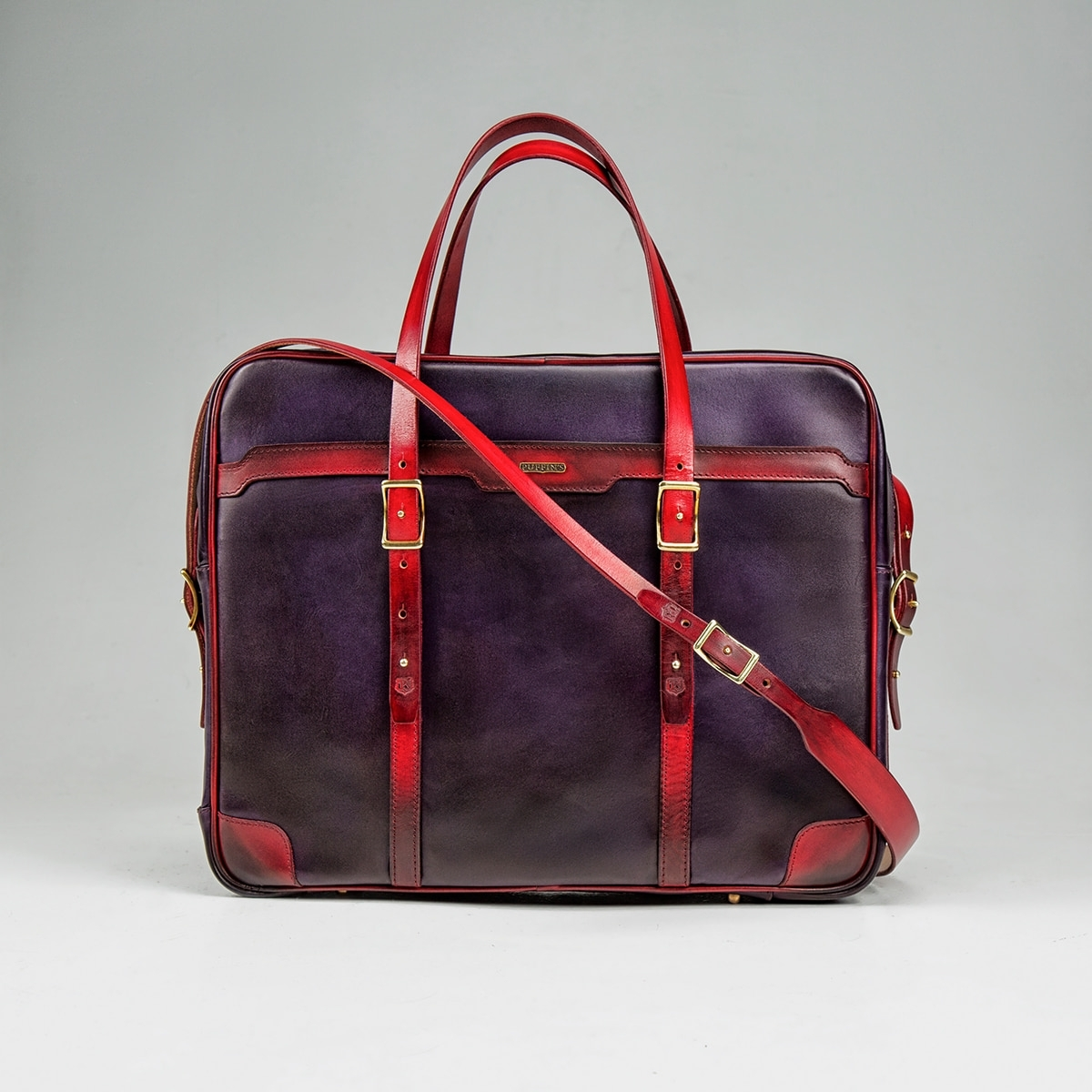 Briefcase  DAPPER 17'' red currant & violet ink