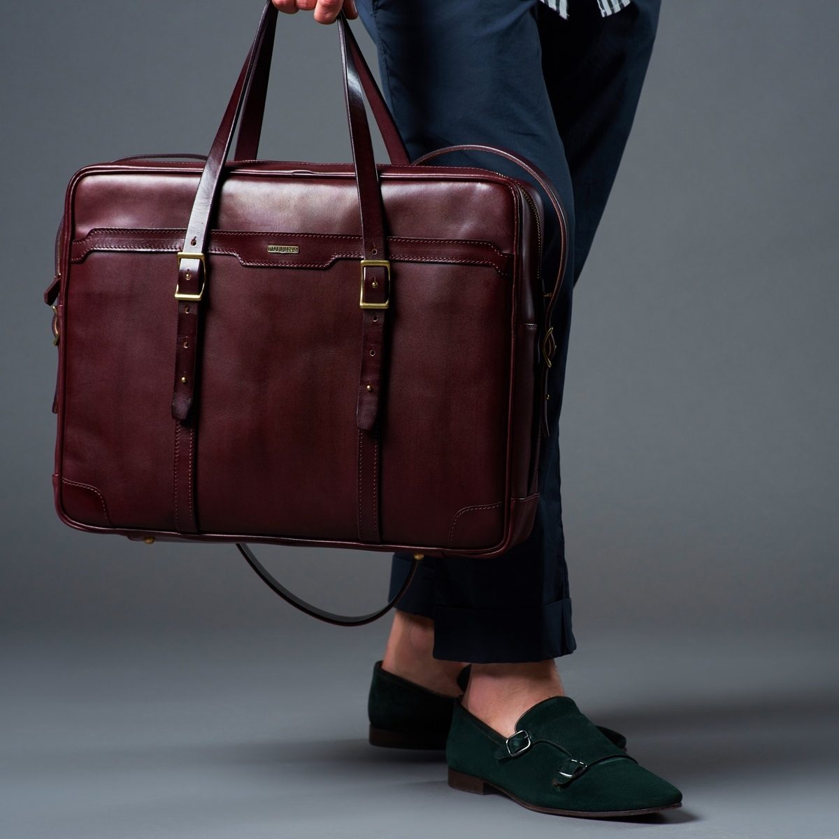Briefcase  DAPPER 17'' bordeaux