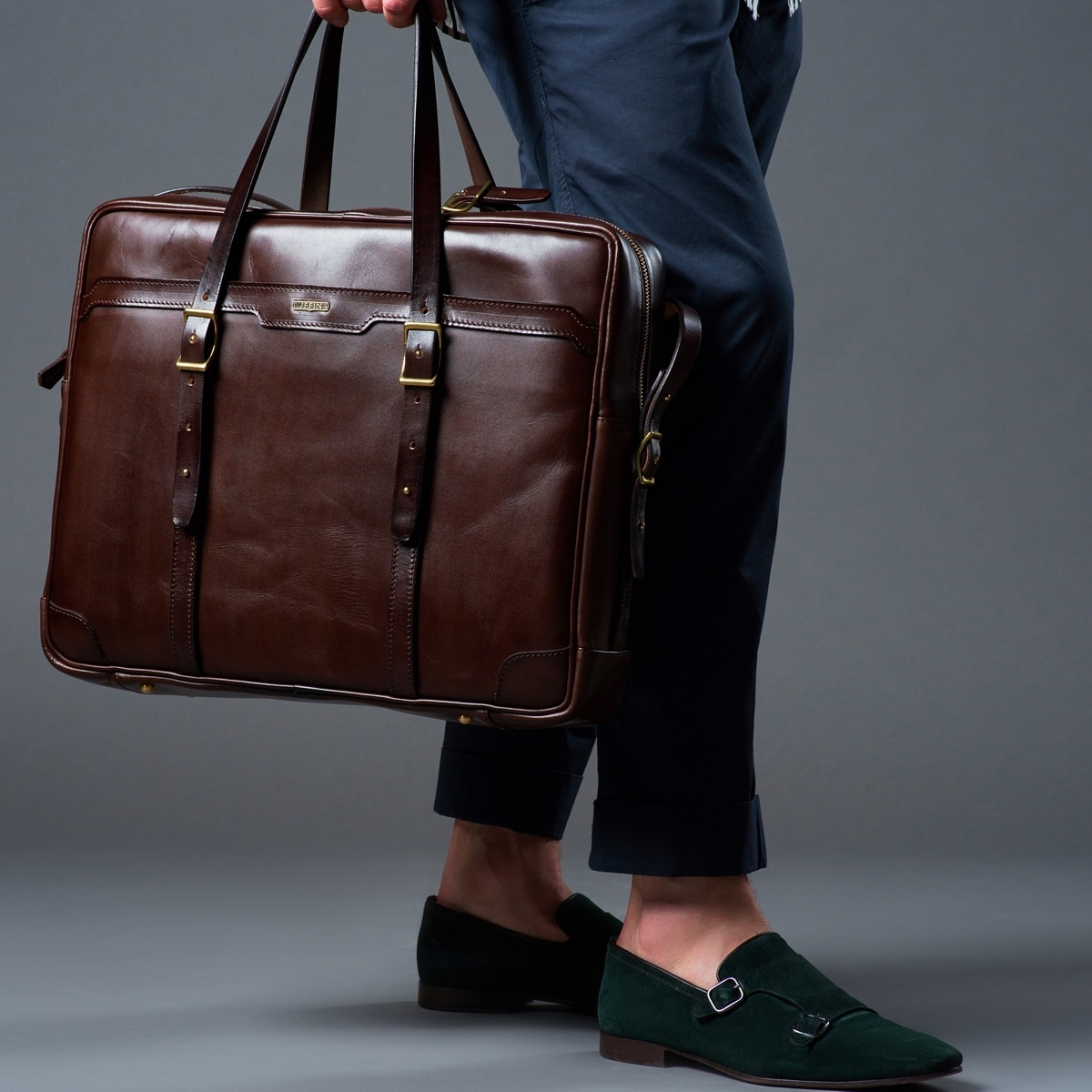 Briefcase  DAPPER 17'' chestnut