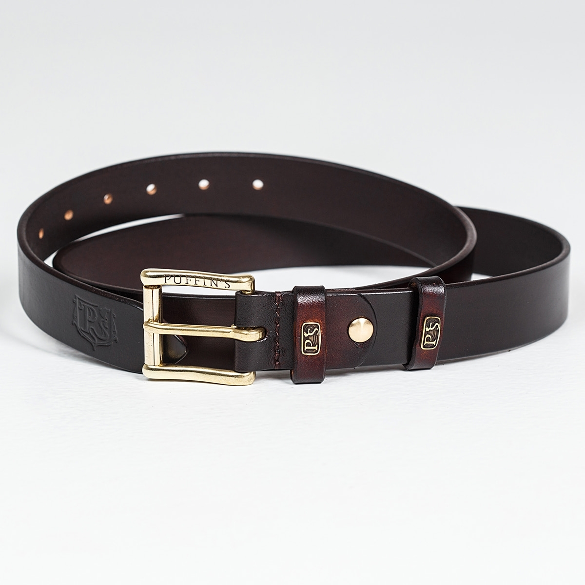 32mm traditional belt for jeans chestnut