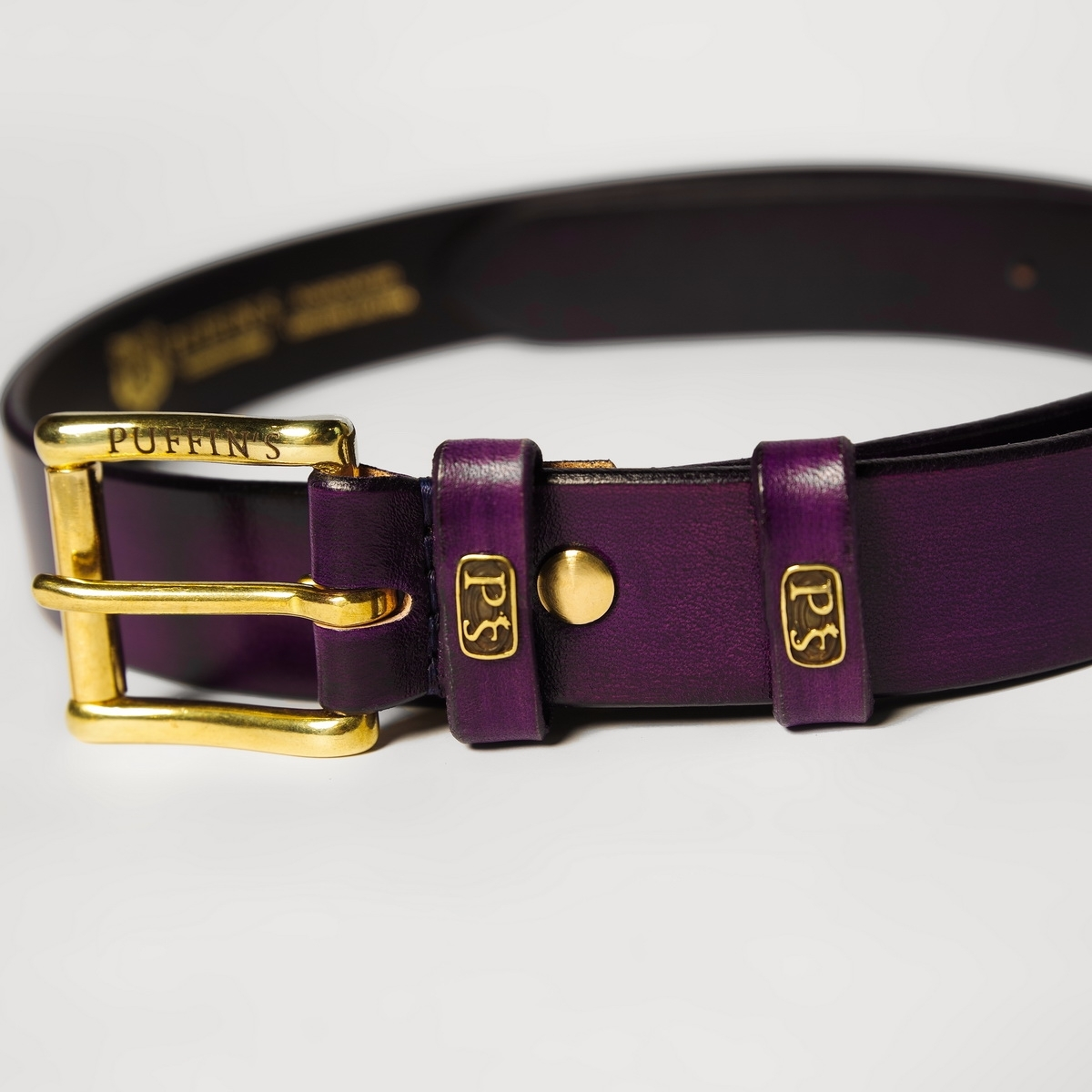 32mm traditional belt for jeans violet ink