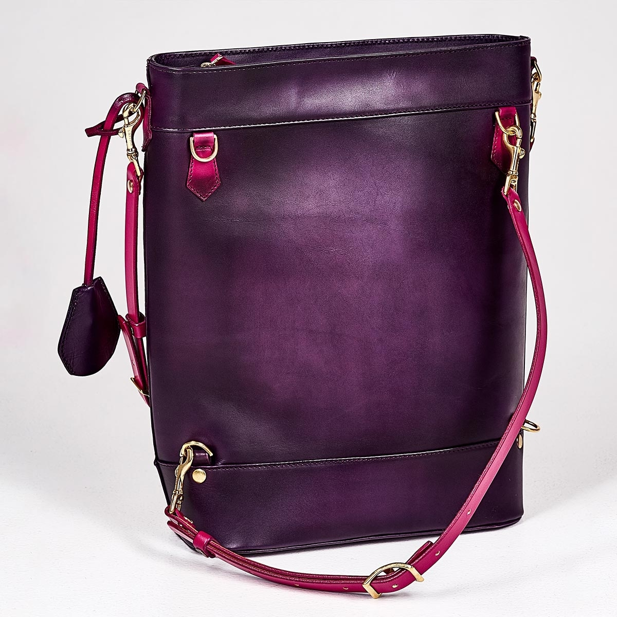 Backpack-tote transformer VOYAGE magenta & violet ink