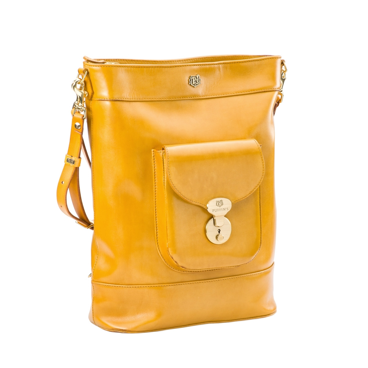 Backpack-tote transformer VOYAGE bright mustard