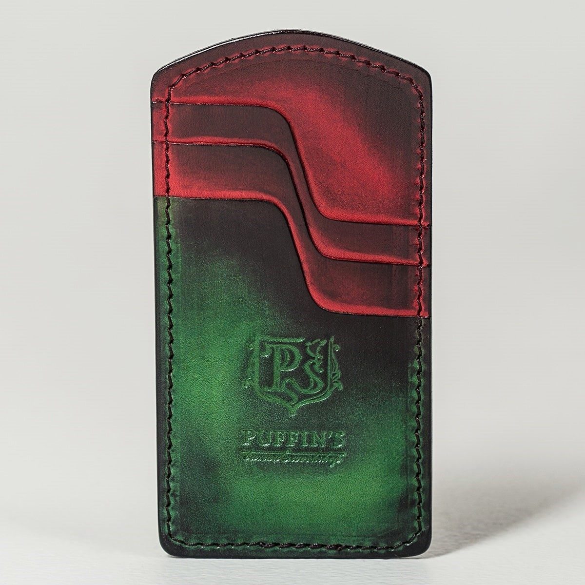Cardholder TOWER grassy green & red currant