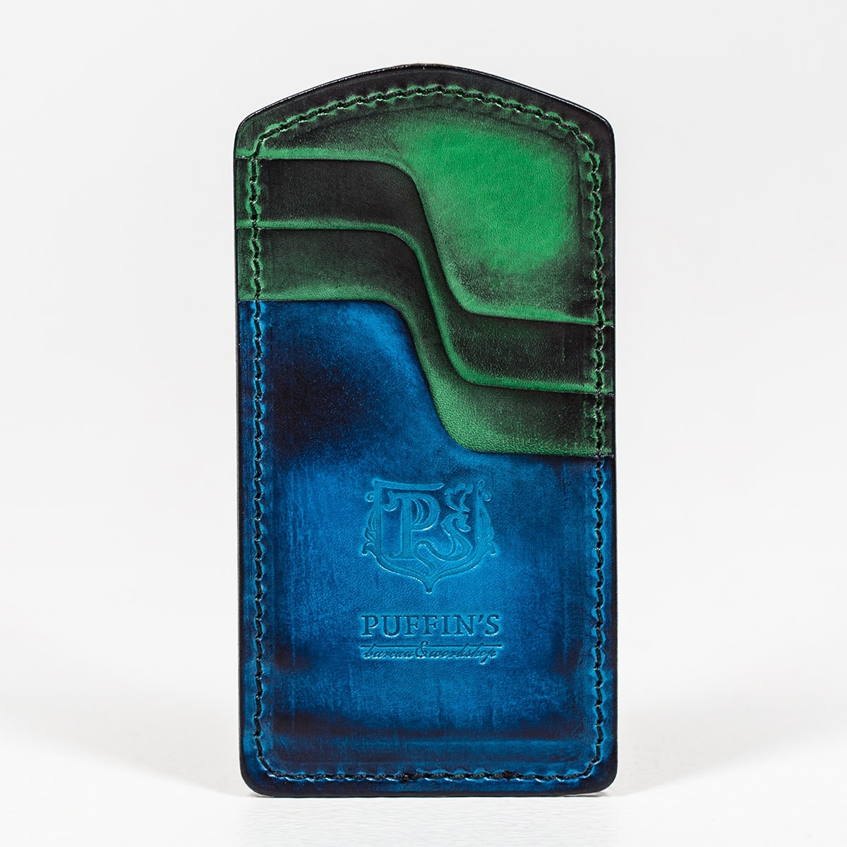 Cardholder TOWER sapphire blue & grassy green