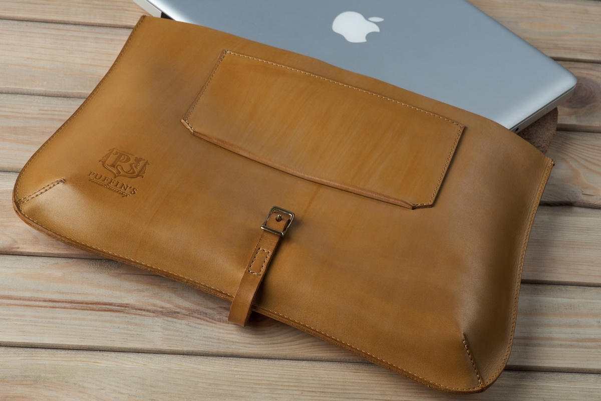 Elegant clutch CELLO / 13'' MacBook case bright mustard
