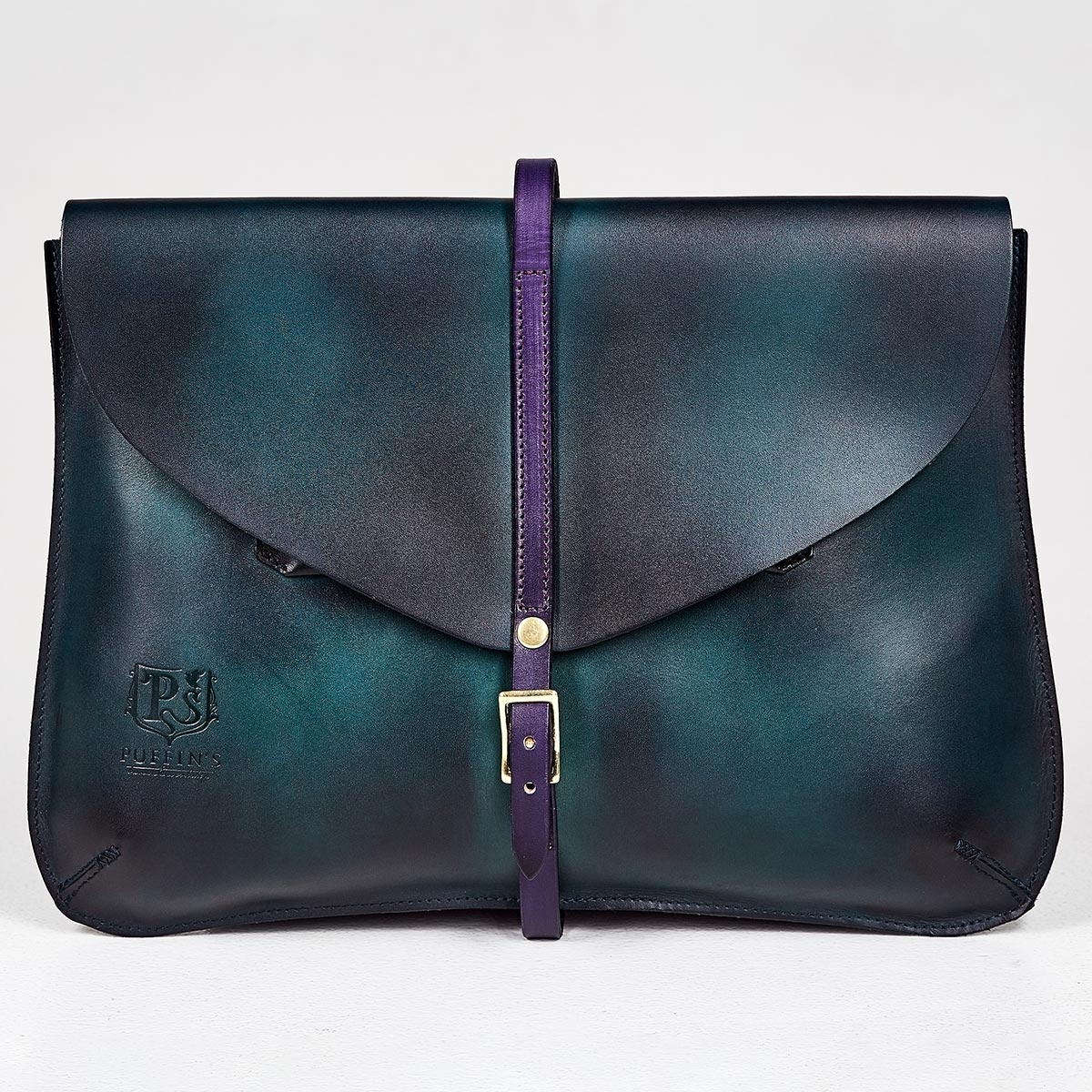 Elegant clutch CELLO / 13'' MacBook case violet ink & bluemarine