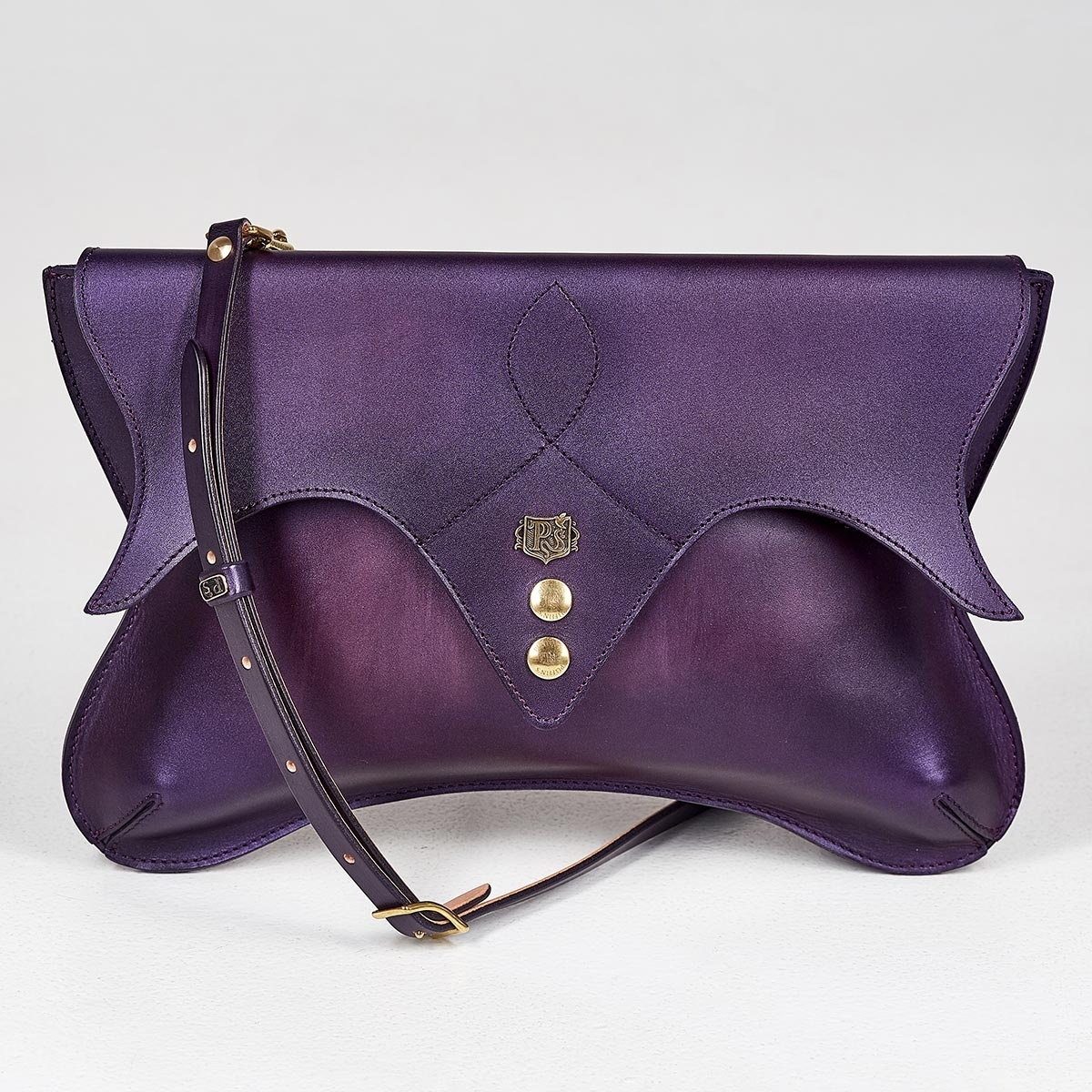 Ladies clutch LOTUS plum wine