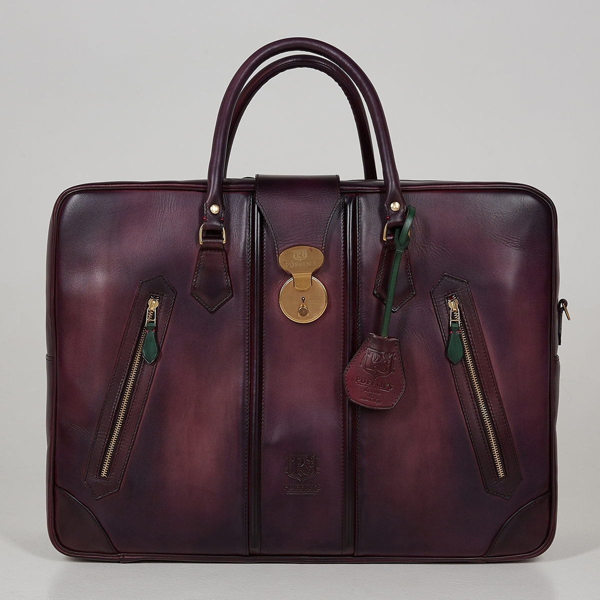 Leather suitcase HOLIDAY plum wine
