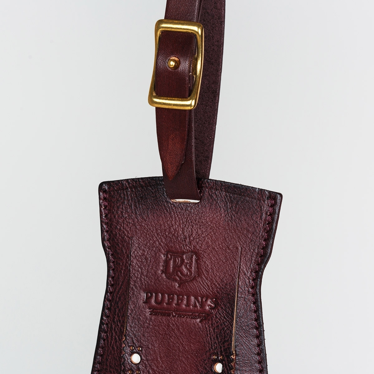 Luggage tag TAVARUA personalized with patina bordeaux