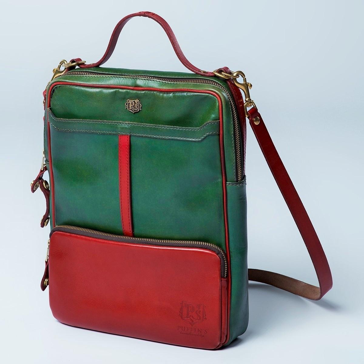 Сумка-рюкзак CHELSEA красная смородина & зеленый травяной