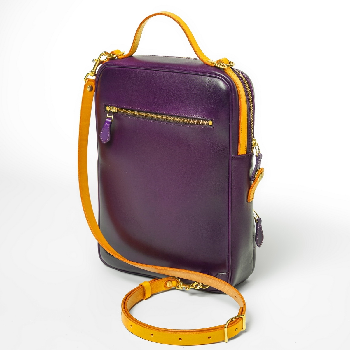 Crossbody bag-transformer CHELSEA bright mustard & violet ink