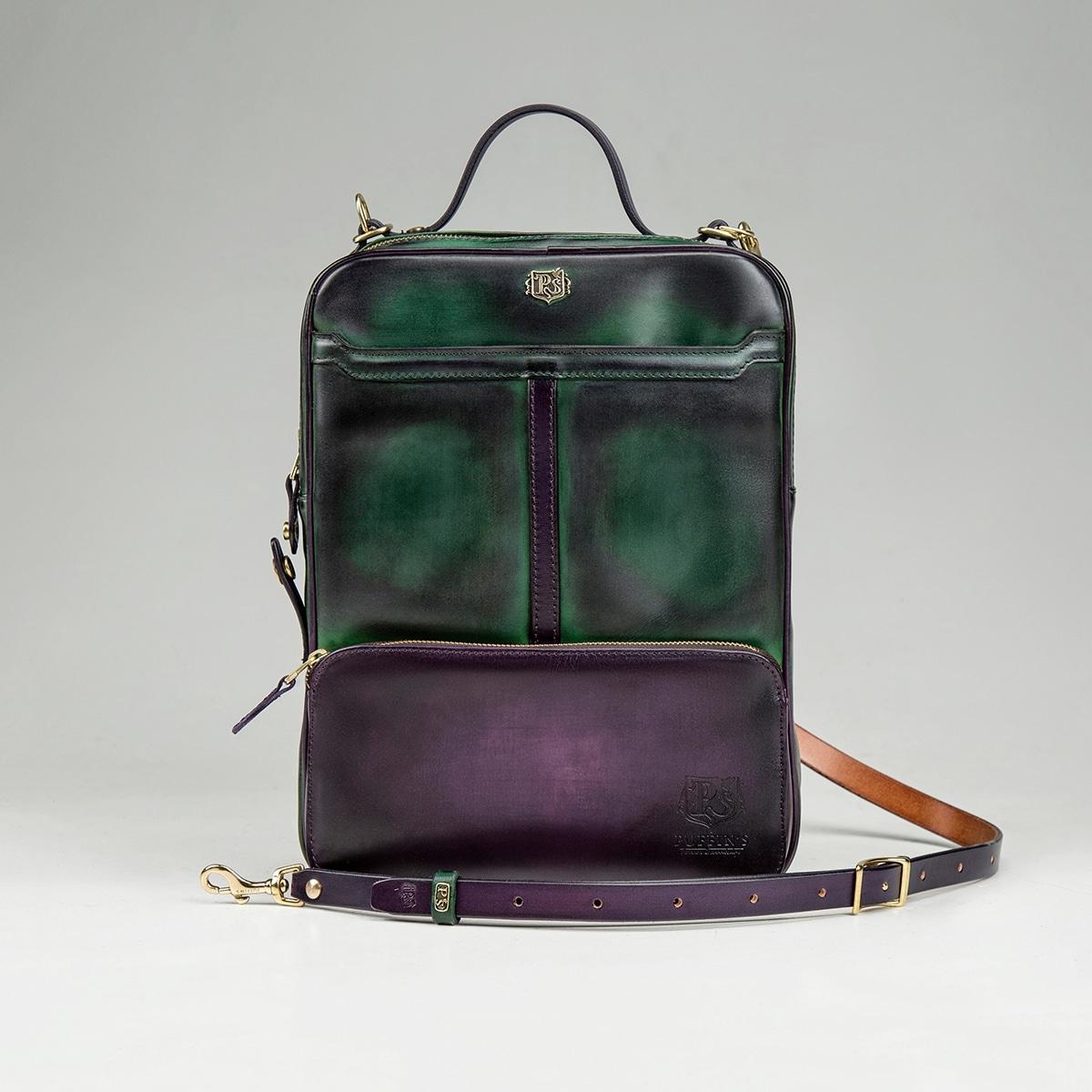 Сумка-рюкзак CHELSEA чернильный & зеленый травяной