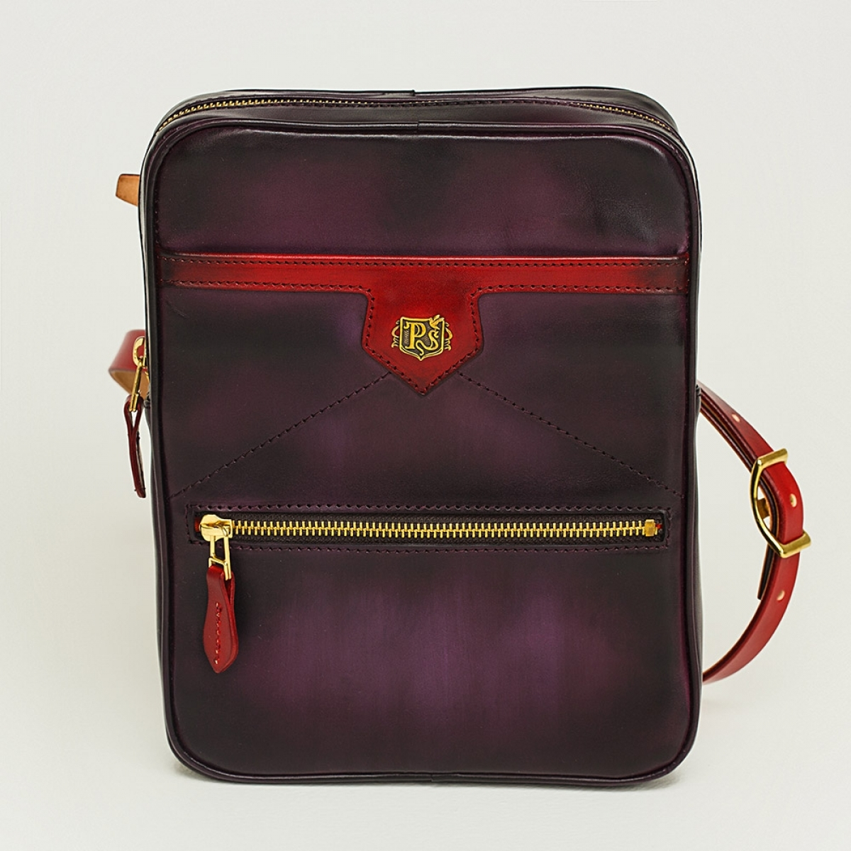 Crossbody bag MEZZO red currant & plum wine