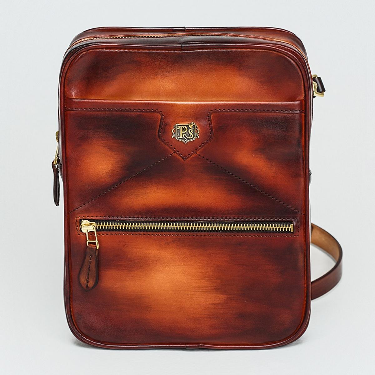 Crossbody bag MEZZO sandal & amber