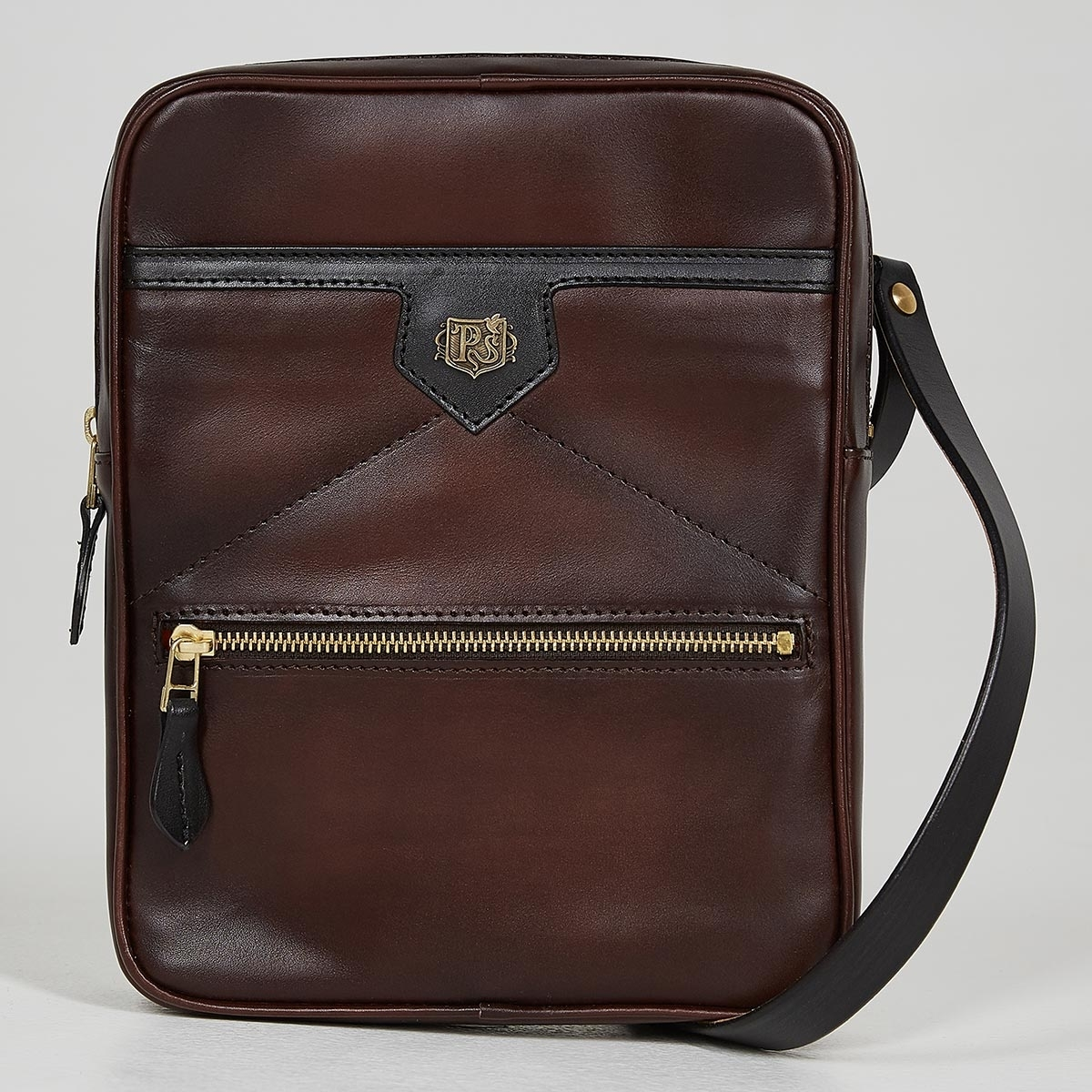 Crossbody bag MEZZO dark agave & brownie