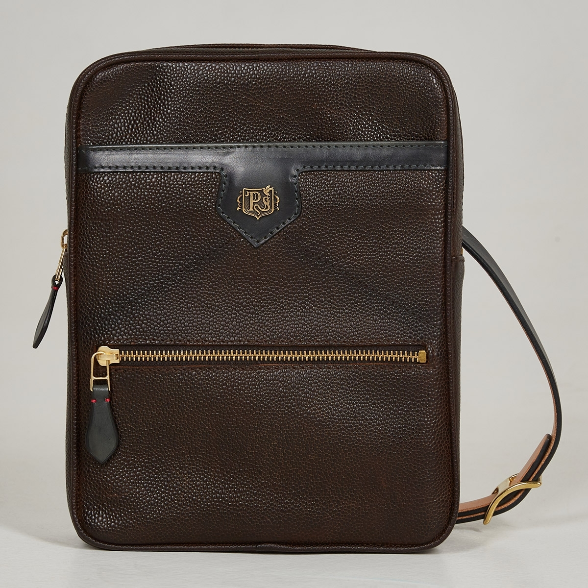 Crossbody bag MEZZO dark agave & grain dark brown