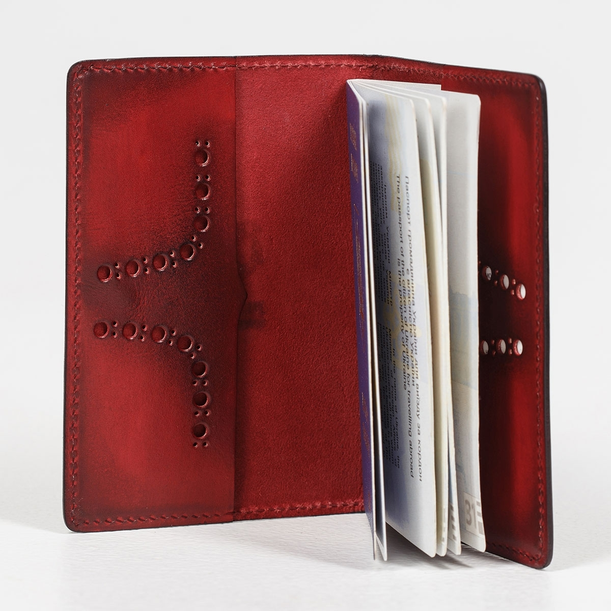 Passport cover CYNARA red currant
