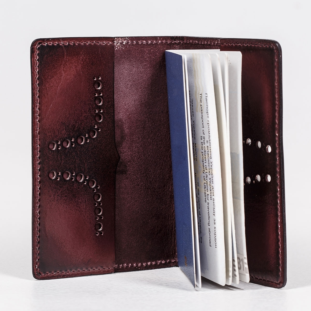 Passport cover CYNARA bordeaux