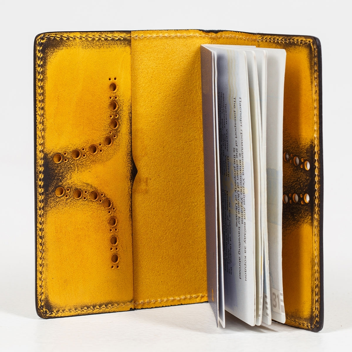Passport cover CYNARA bright mustard