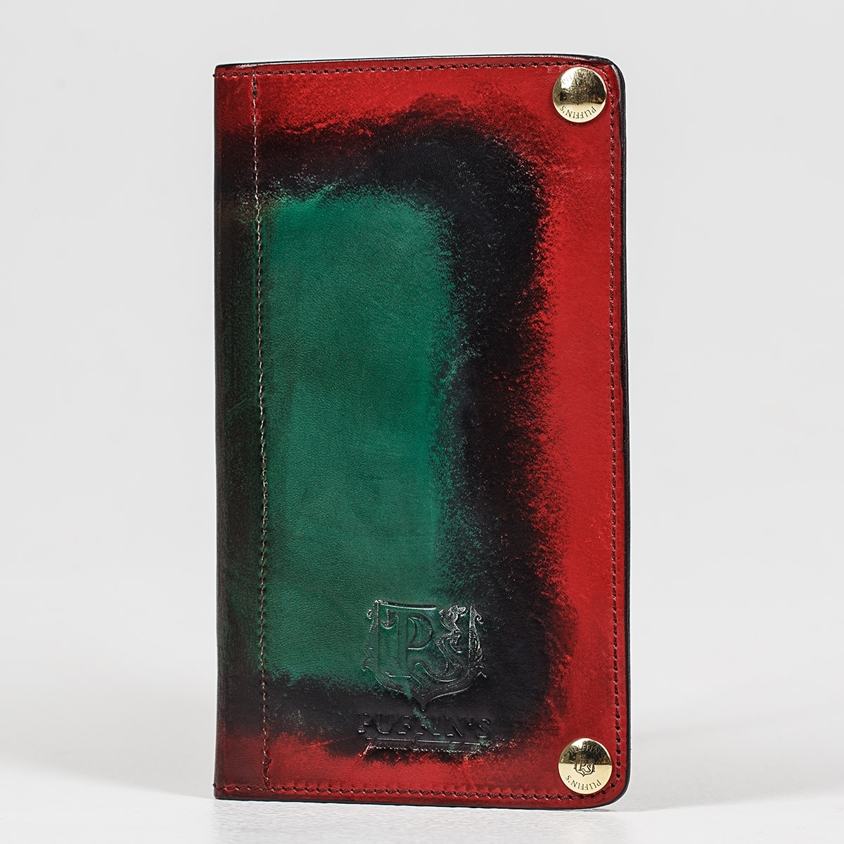 Long wallet LONG ISLAND grassy green & red currant