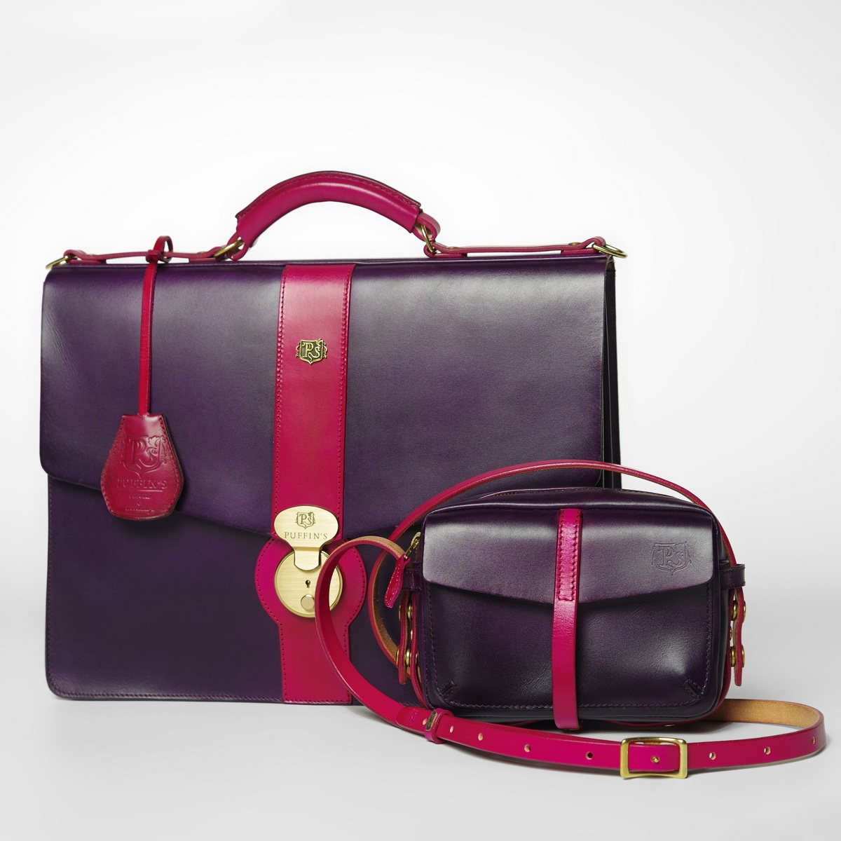Briefcase CLASSIC NUMBER ONE magenta & violet ink