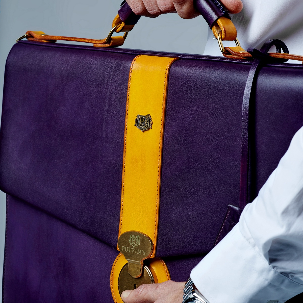Briefcase CLASSIC NUMBER ONE bright mustard & violet ink