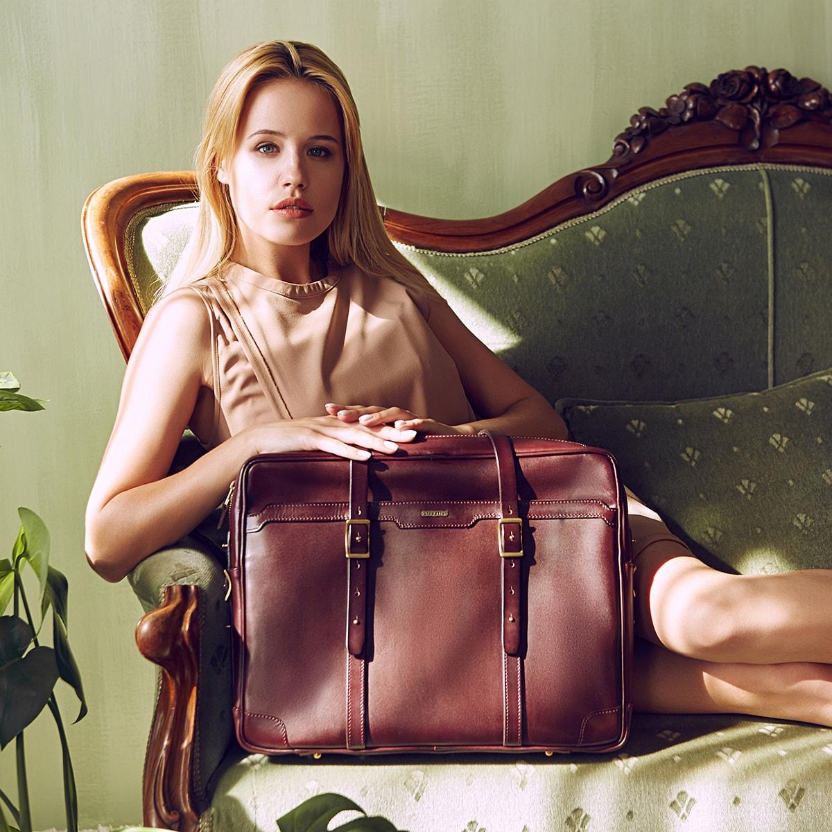 Briefcase  DAPPER 17'' bordeaux