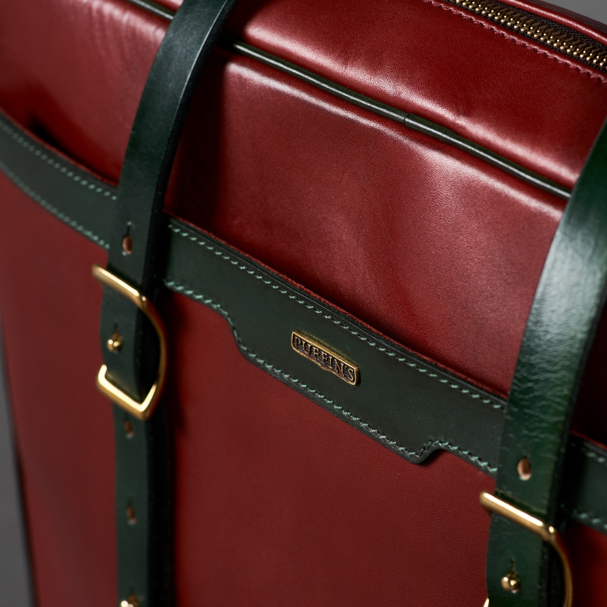 """портфель dapper 17"""" зеленый травяной & красная смородина"""