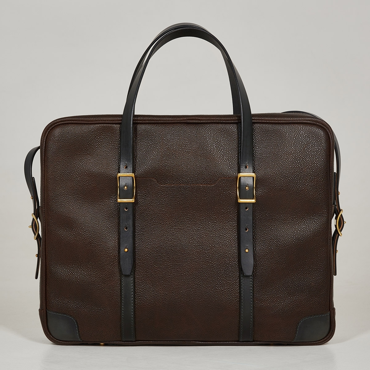 Briefcase  DAPPER 17'' dark agave & grain brown