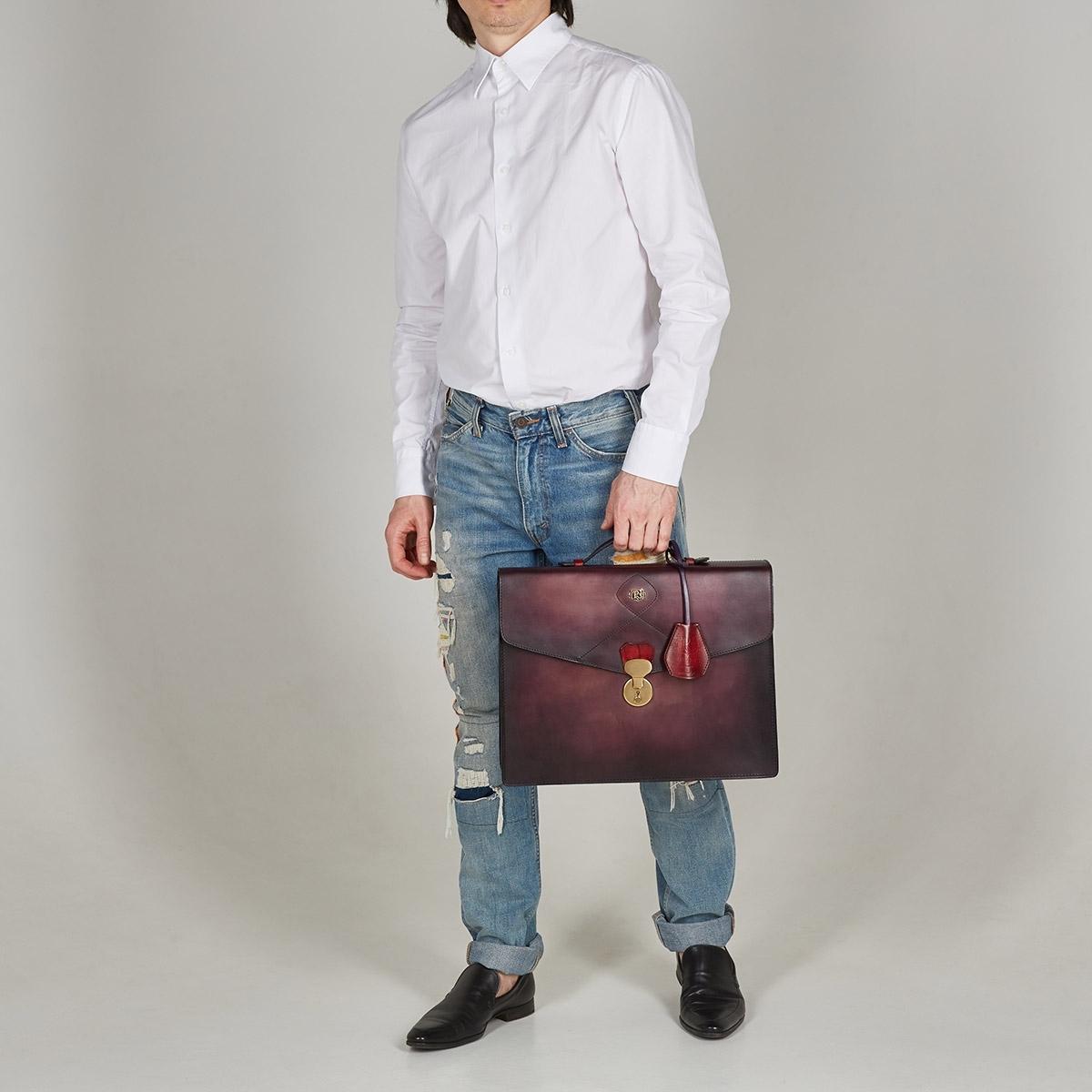 Briefcase ELEGANCE red currant & plum wine