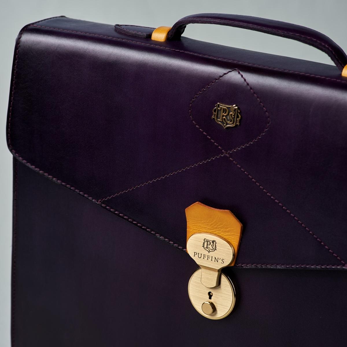 портфель elegance горчичный & чернильный