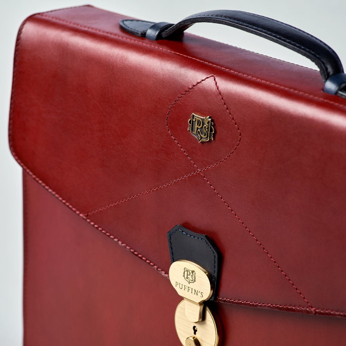 портфель elegance синий глубокий & красная смородина