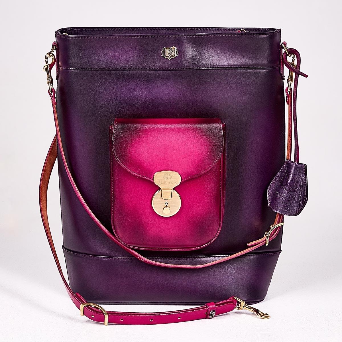 Backpack-tote transformer VOYAGE magenta & violet ink