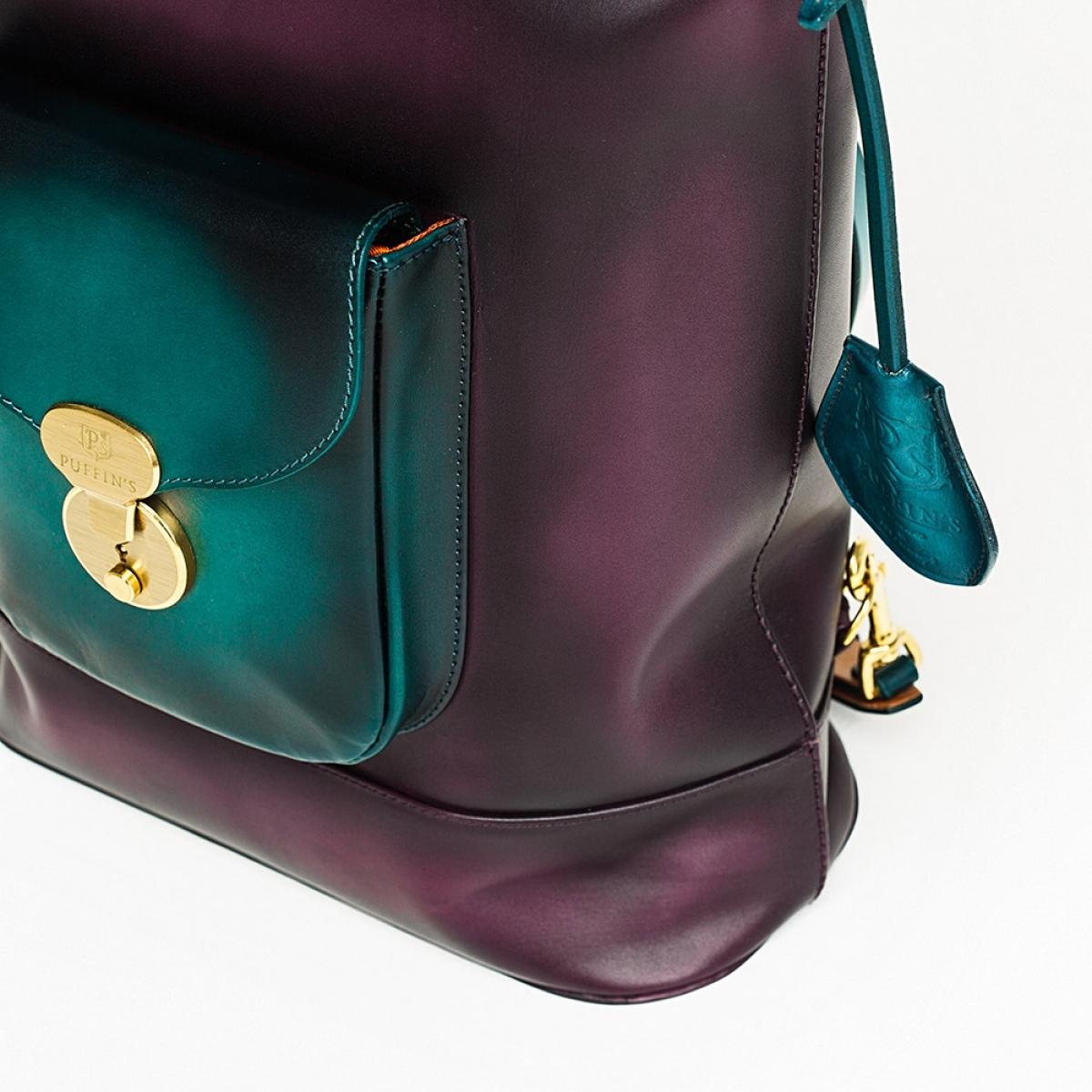 Backpack-tote transformer VOYAGE bluemarine & plum wine