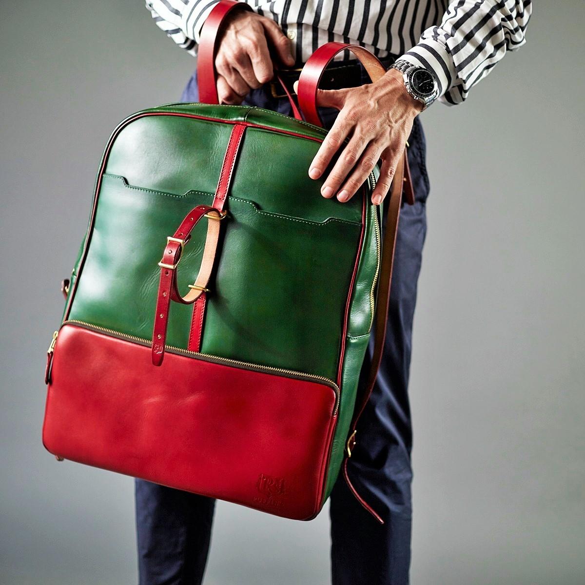 рюкзак gran turismo  17'' красная смородина & зеленый травяной