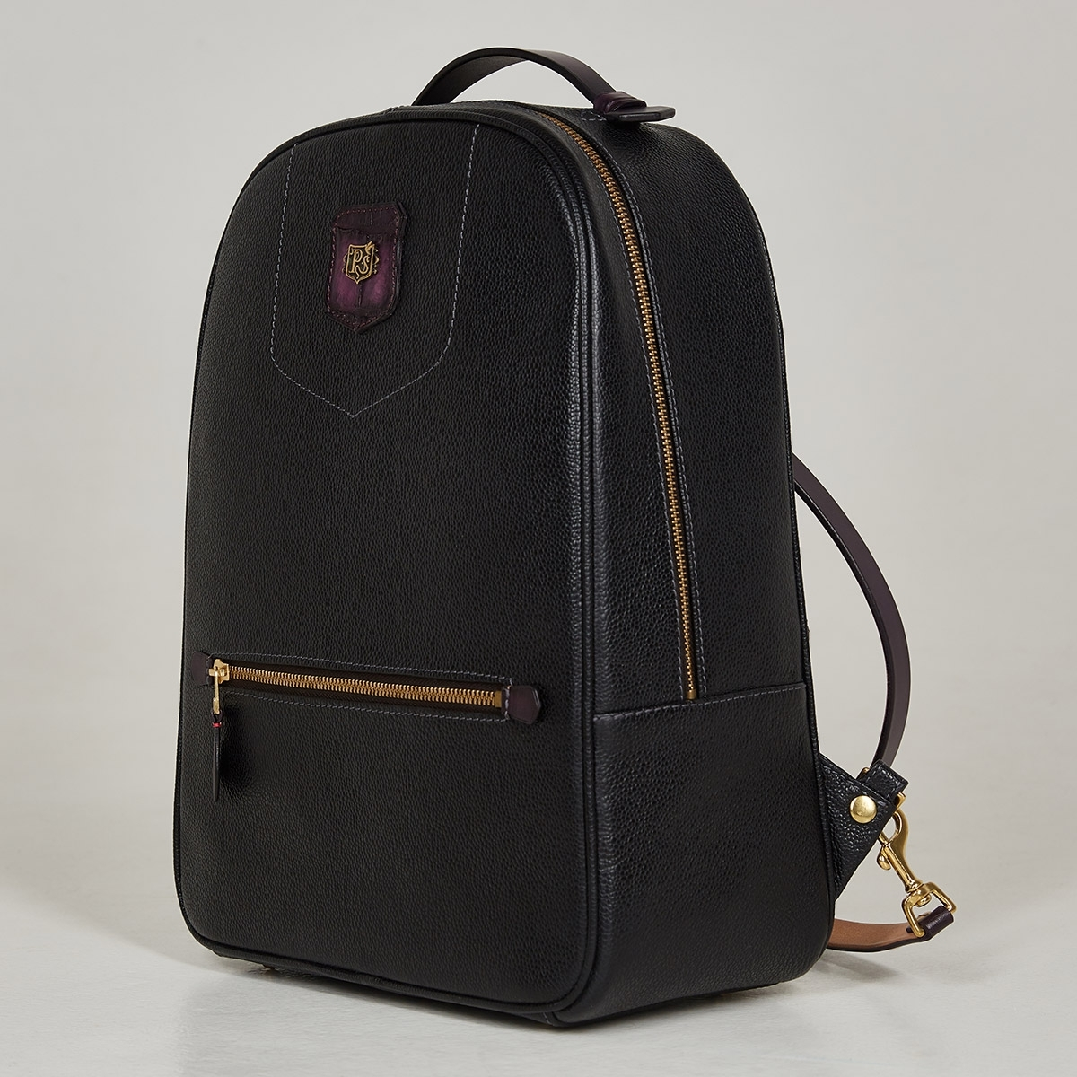 City backpack ASPEN plum wine & grain dark blue