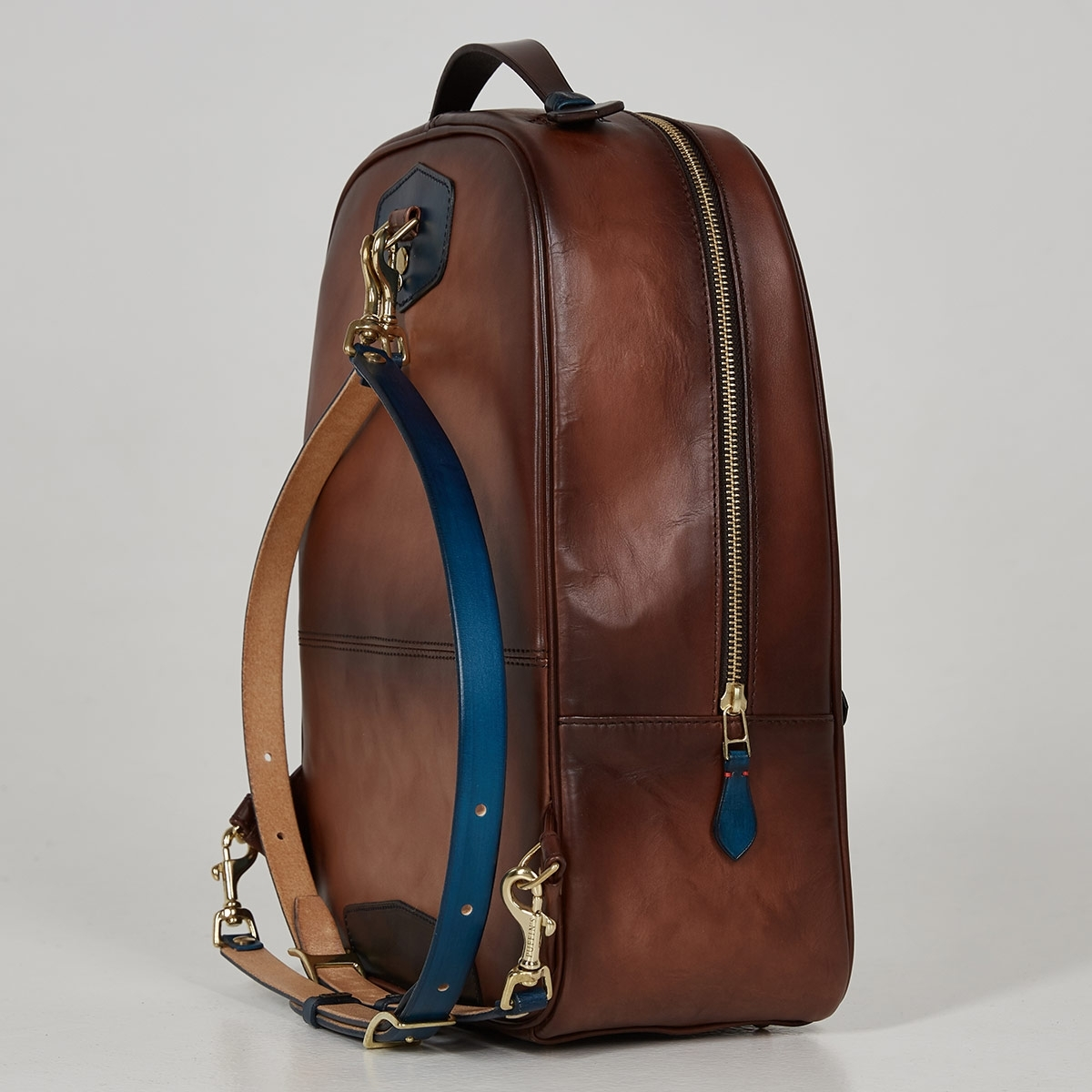 City backpack ASPEN sapphire blue & dutch cocoa