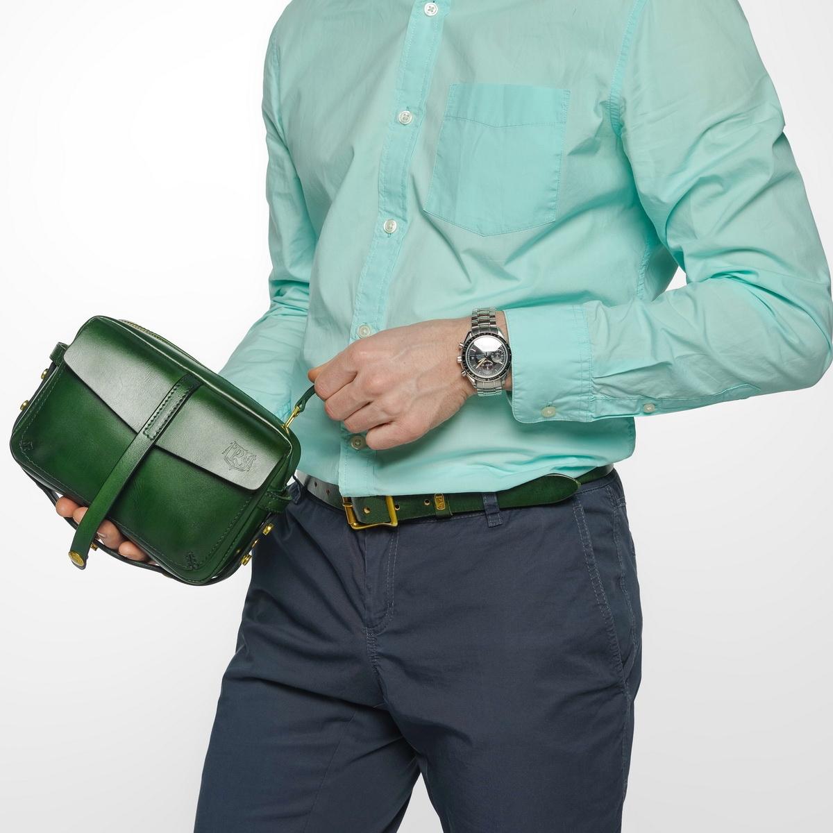 Сумка-клатч PUFF зеленый травяной