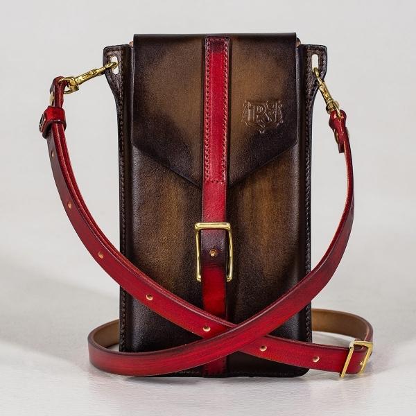 Travel case FIJI red currant & chestnut