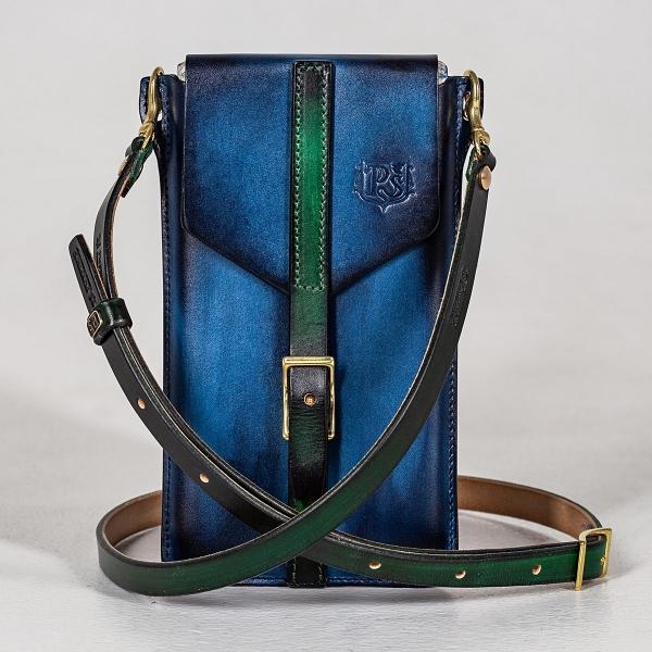 Travel case FIJI grassy green & sapphire blue