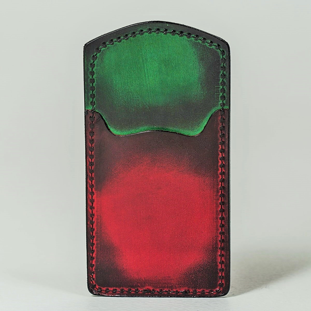 Cardholder TOWER red currant & grassy green