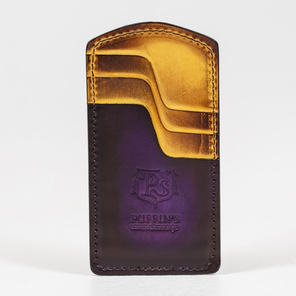 Cardholder TOWER violet ink & bright mustard
